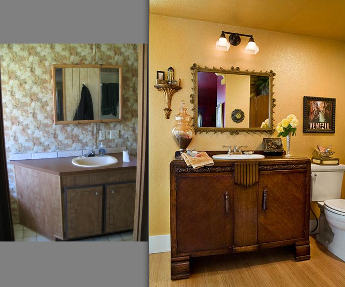 Mobile home remodel before and after house furniture for Home bathroom remodel