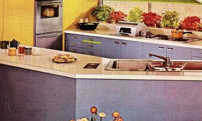 vintage mobile home kitchen