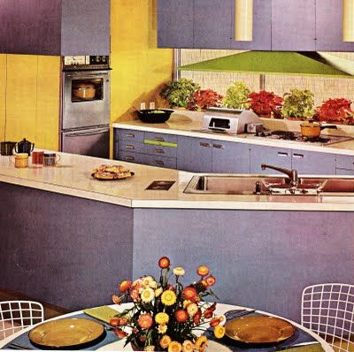 retro interior designs-kitchen