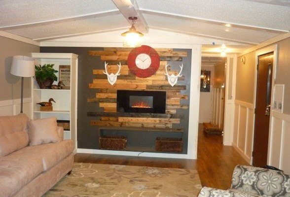 Modern single wide mobile home update mmhl - How to decorate a mobile home decor ...