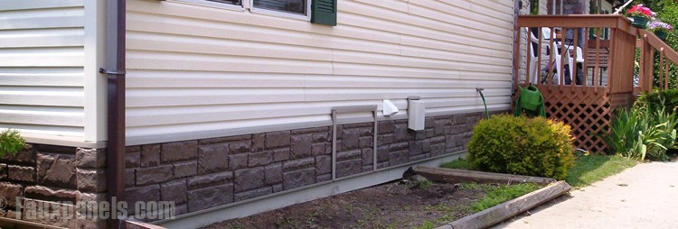 The mobile home skirting guide mobile and manufactured home living - Fake brick skirting ...