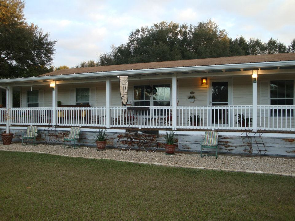 Dreamy double wide - Mobile home deck designs ...