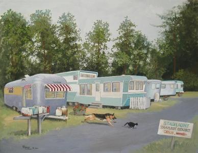mobile home art  -