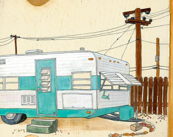 mobile home art - etsy