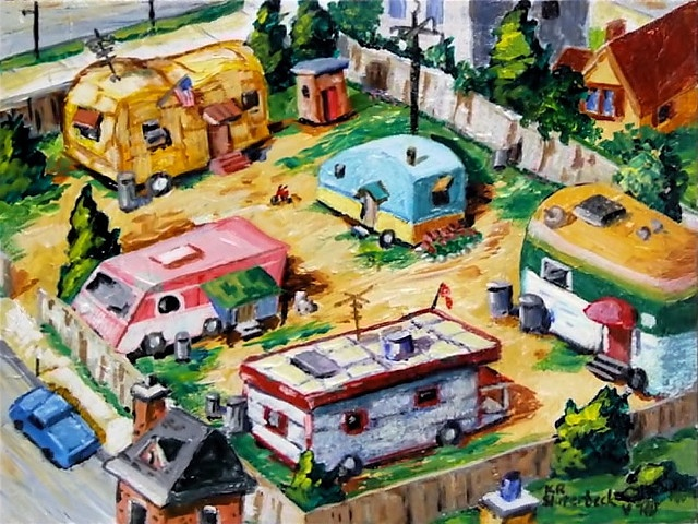 mobile home art - park