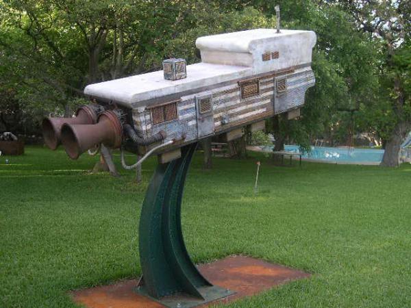 mobile home art - sculpture