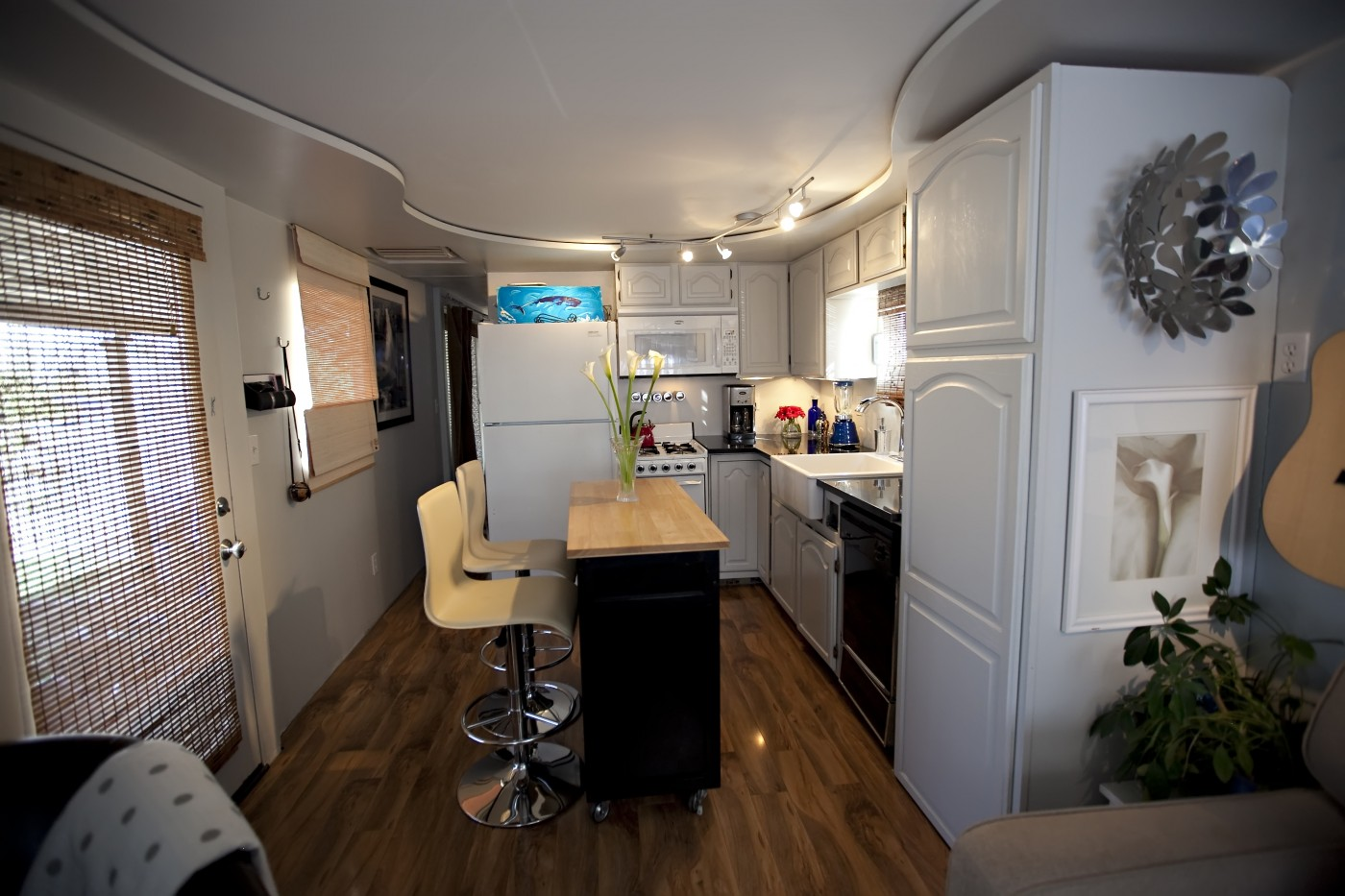 Total trailer remodel mobile manufactured home living Remodeling a small old house
