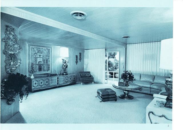 Dubl-wide Roadliner brochure - living room - Expandable Mobile Homes