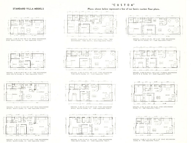 Expandable mobile homes - floor plans