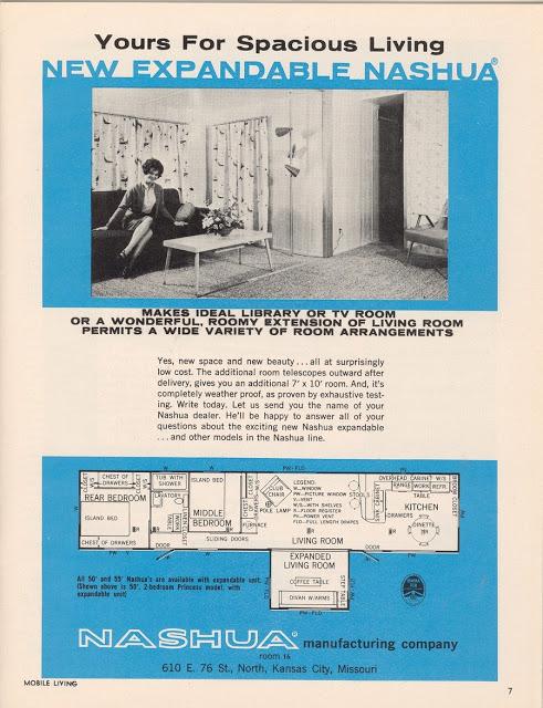 Nashua Expandable Mobile Homes - advertisement