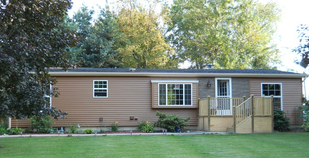 Double wide exterior remodel mobile manufactured home for Remodel outside of house