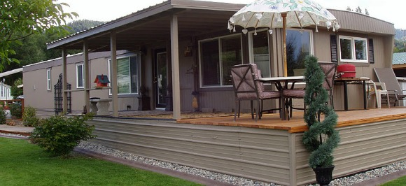 Mobile Home Remodel After New Deck