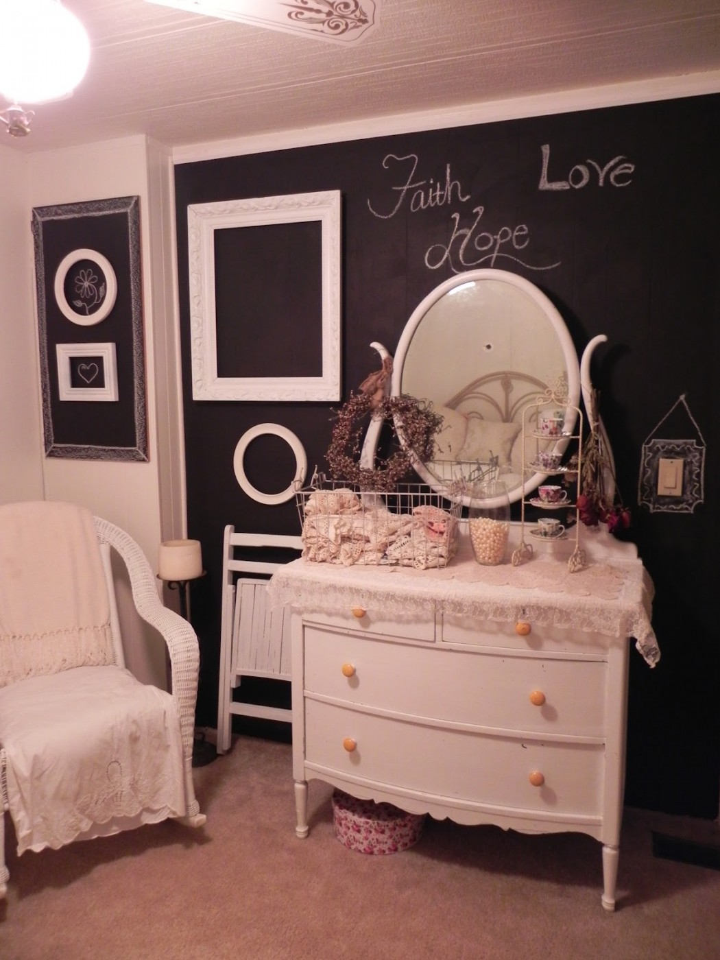 guest bedroom makeover in a double wide