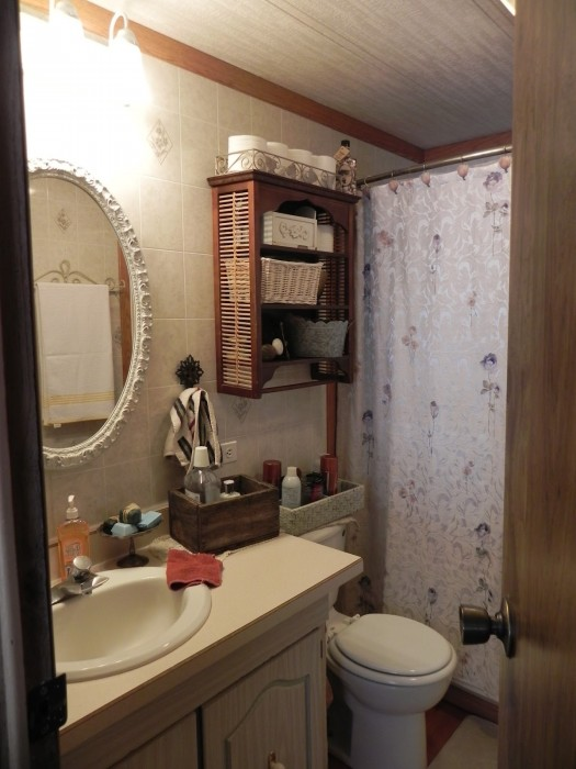 bathroom after double wide makeover