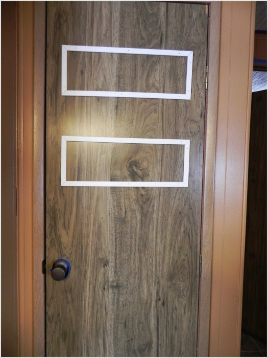 how to add trim to makeover an interior mobile home door