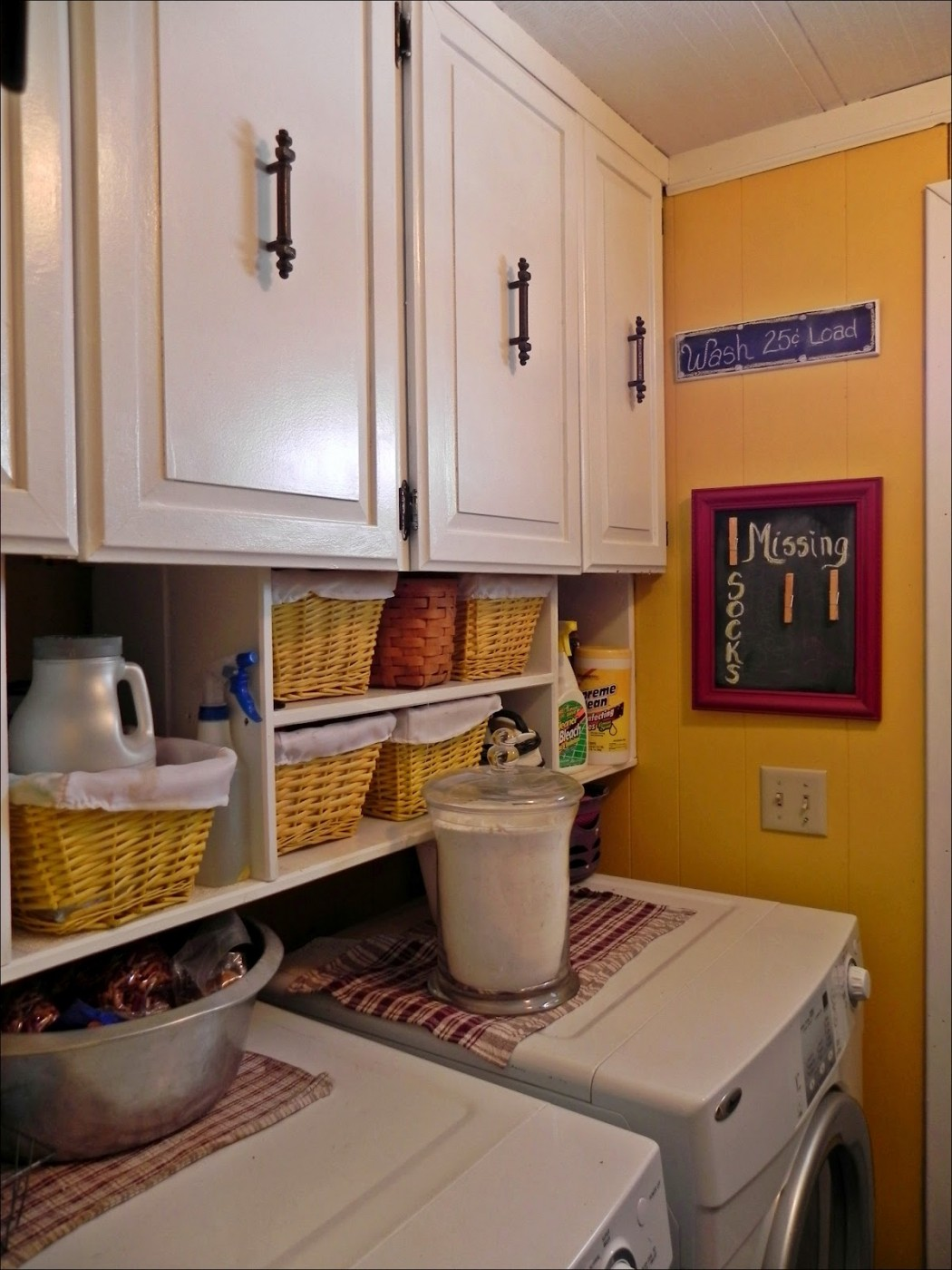 laundry room makeover in a double wide