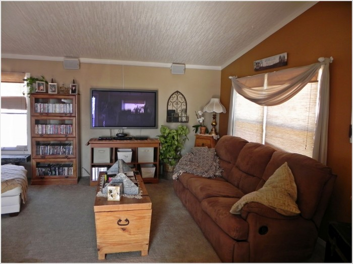 Double wide makeover ideas - living room after