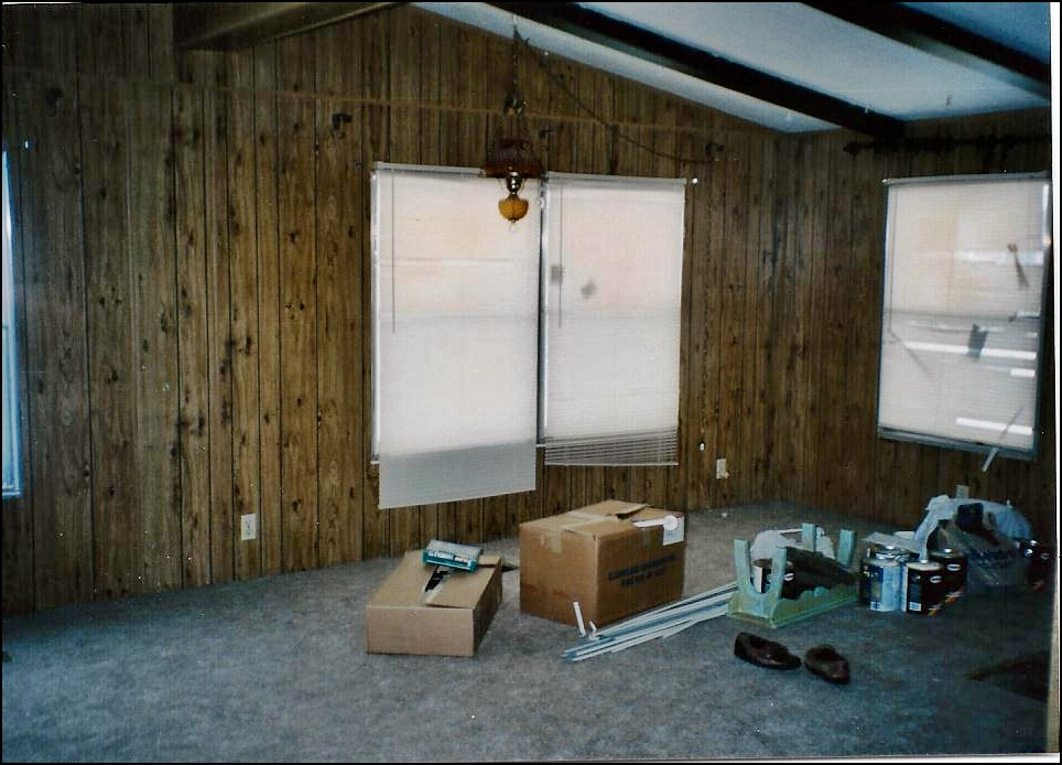 Shannon 39 s shabby chic double wide makeover for Modular living space