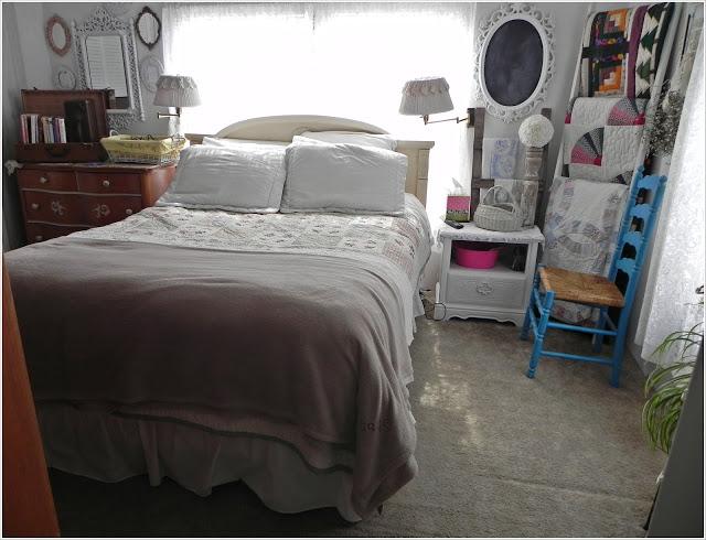 master bedroom after - mobile home bedrooms