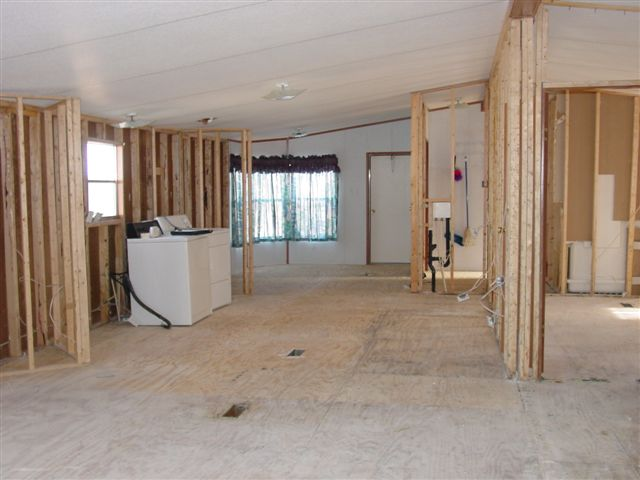 Removing walls in a mobile home Mobile home interior walls