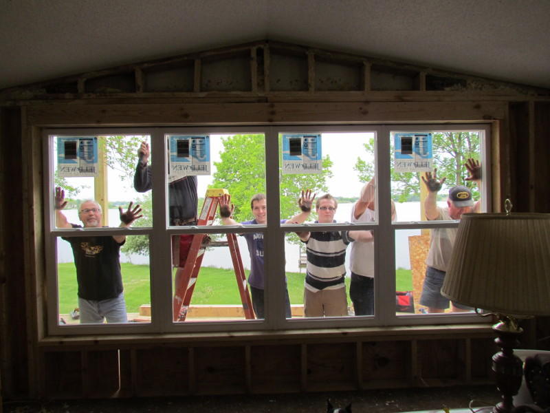 Our crew put in the new window