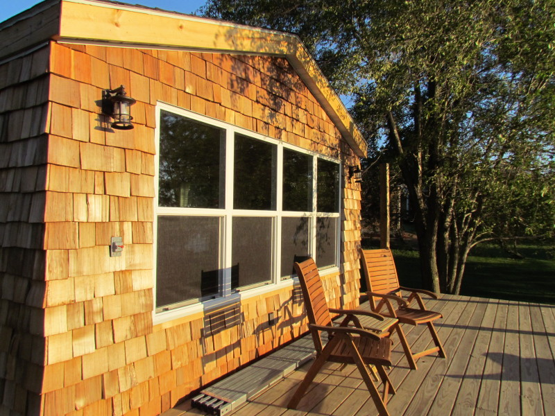 The Whim A Single Wide Remodeled With Cedar Shake Siding