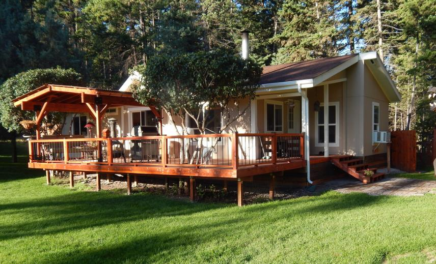 Pictures of porches and decks for mobile homes joy - Mobile home deck designs ...