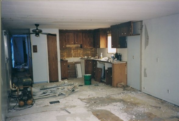 Extreme Manufactured Home Kitchen Remodel Before