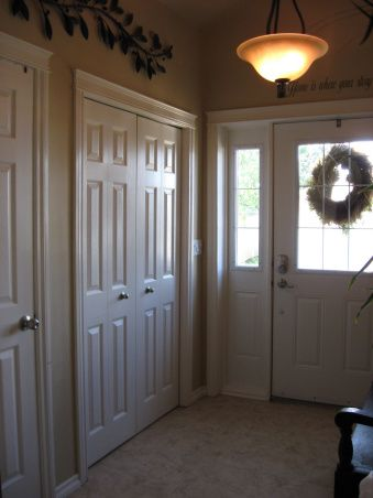 extreme manufactured home remodel  foyer entrance
