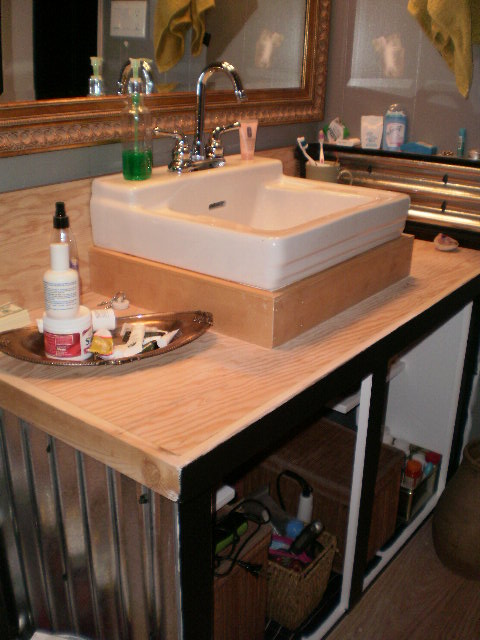 rising a bathroom sink