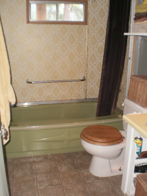 Sheet metal single wide remodel for Remodeling bathroom ideas older homes