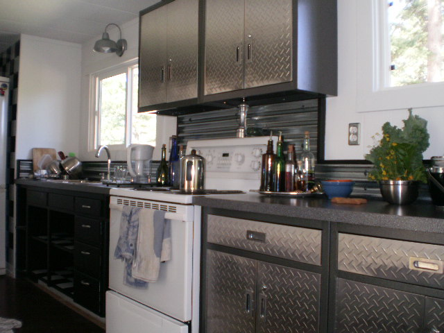 using sheet metal in a kitchen