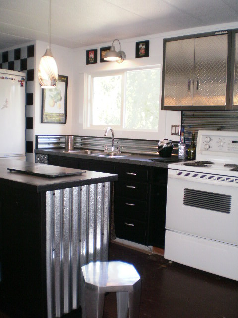 Sheet metal single wide remodel Mobile home kitchen remodel pictures