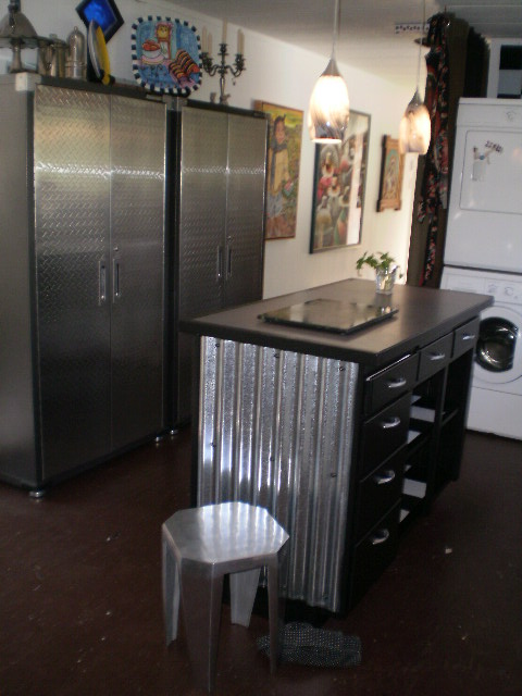 sheet metal kitchen design in a single wide remodel