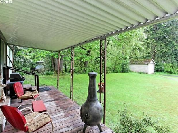 Oregon single wide - exterior deck