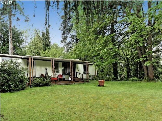 Oregon single wide mobile home for sale - green lawn