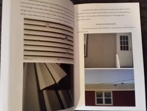 Inside Pages of Manufactured Home Repair and Maintenance Book