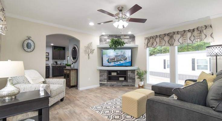 smart upgrades for your new manufactured home - 2017 Norris CEO - Top of the Line Manufactured Home Model - living room fireplace 2 - Expert Reveals the Best Tips for Buying a New Manufactured Home