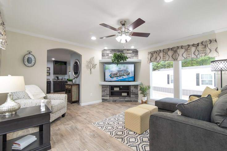 Smart upgrades for your new manufactured home for Model home living room