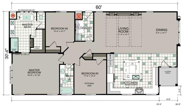 2018 new manufactured home design-optional floor plan