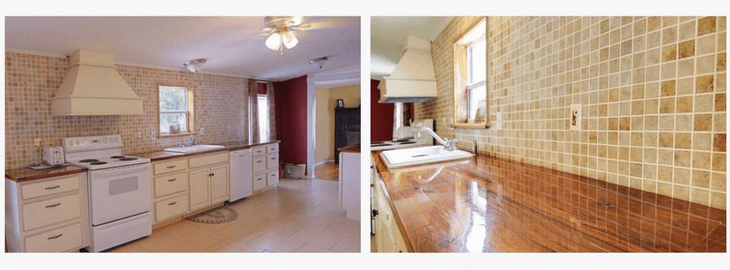 Kathleen seide cottage style manufactured home kitchen remodels with stone backsplash