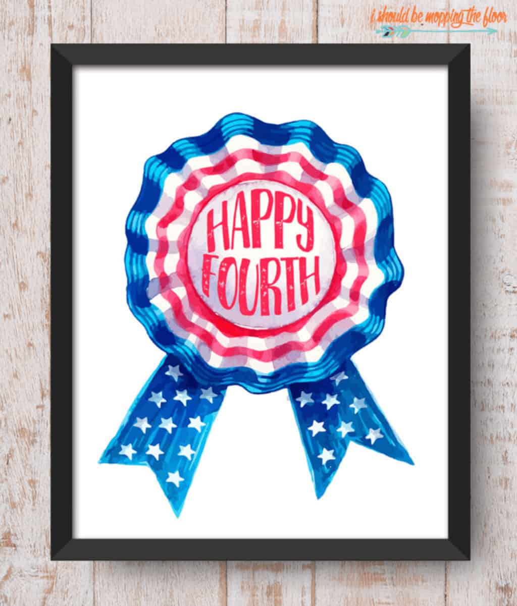 Free patriotic printable for 4th of july