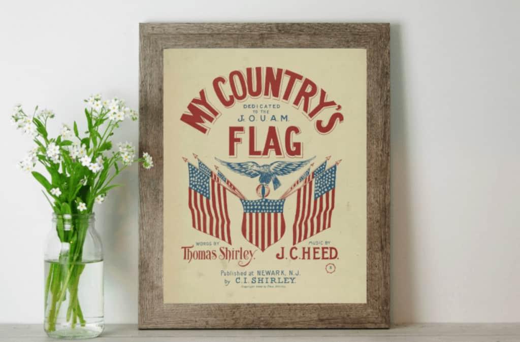 Free vintage patriotic printables for 4th of july