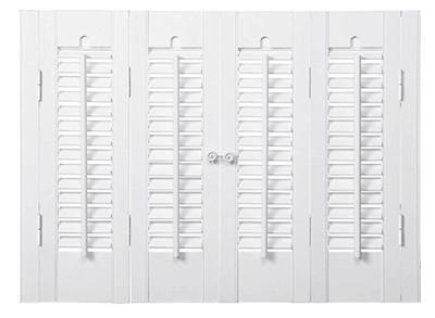 Plaintation shutters for mobile home windows