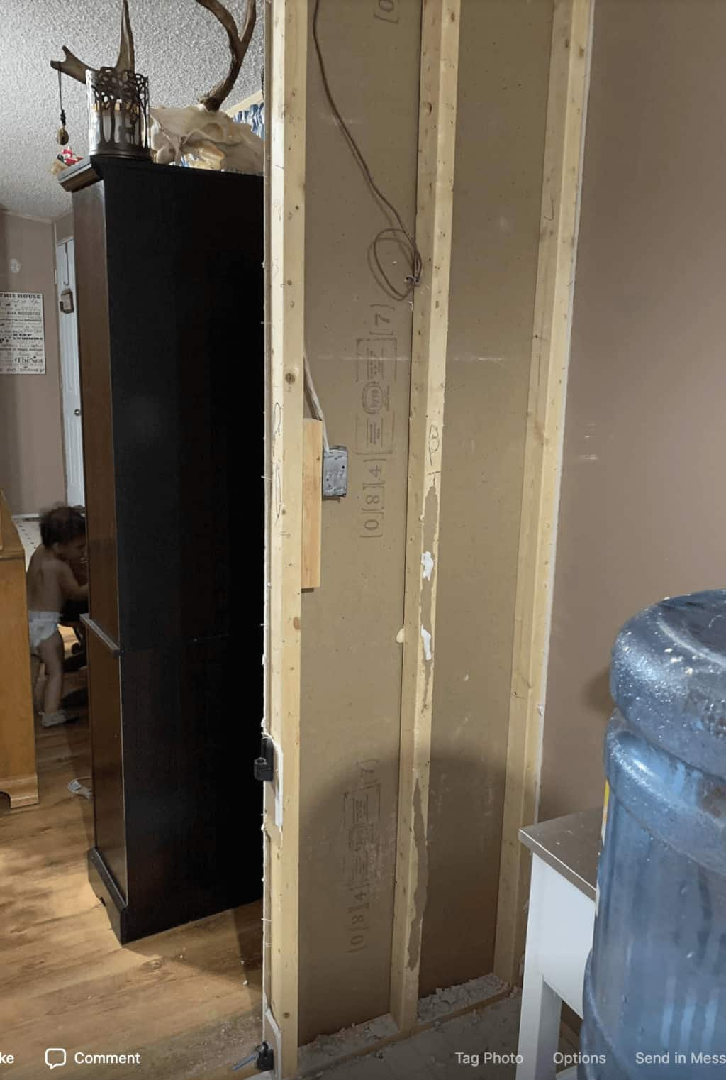 Removing a small wall in a mobile home before and after keia holm00002