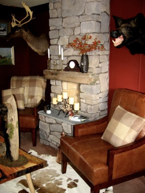 cabin decor in mobile home living room