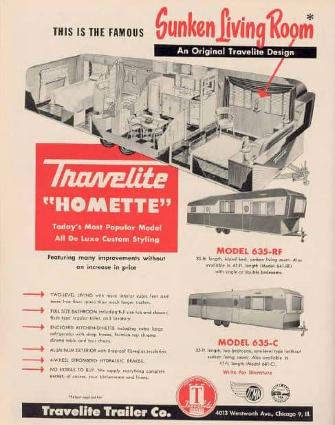 1953 Travelite Homette Ad