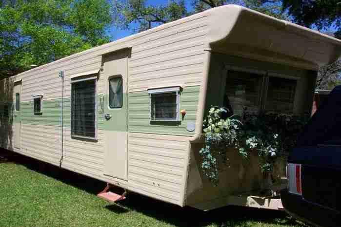 1957 Casa Manana 2 Bedroom Travel Trailer - closer exterior