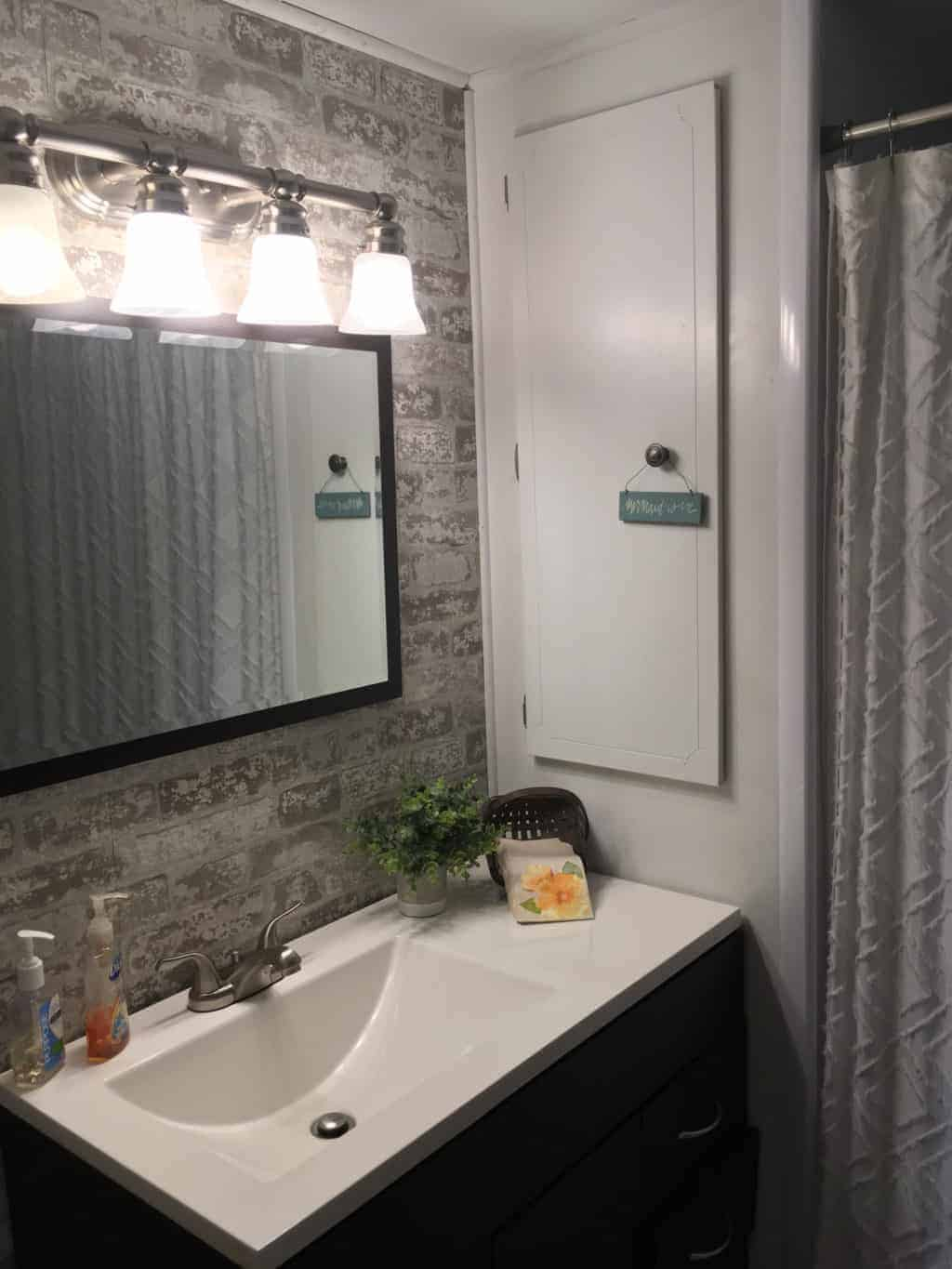 1964 chateau master bath with new light fixture is gorgeous best decorating hacks for mobile homes 1