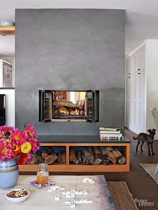 S fireplace
